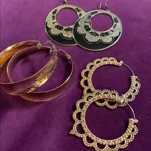 Gold earring bundle
